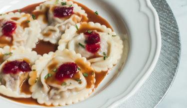 Turkey and Cranberry Ravioli